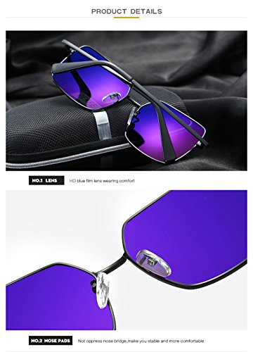 Gafas Protección Sol Hombre De para C1 Aviator Mujer Polarizadas 400 para UV C4 8rAw58q