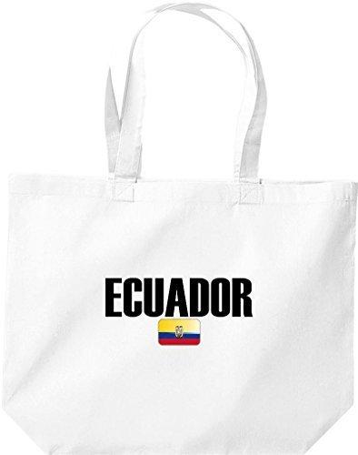 große Bolsa de compra, Ecuador Land PAÍSES Fútbol Blanco