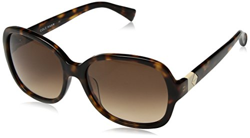 Cole Haan Women's Ch7001 Plastic Butterfly Cateye Sunglasses, Soft Tortoise, 56 - Cole Haan Womens Sunglasses