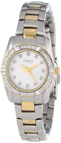 Caravelle by Bulova Women's 45L83 Crystal Accented Silver Dial Watch