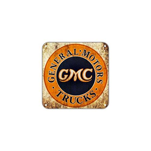 (General Motors Trucks GMC Vintage Retro Metal Wall Decor Art Shop Man Cave Bar Garage Aluminum 12