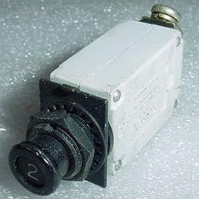 MS26574-2, 7274-2-2, 2A Slim Klixon Aircraft Circuit Breaker