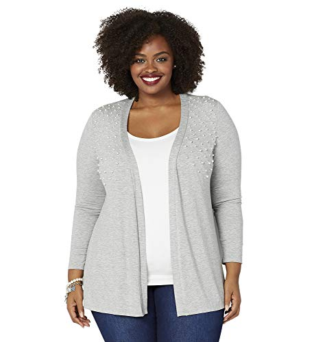 Avenue Women's Pearl Cardigan, 26/28 Light Grey