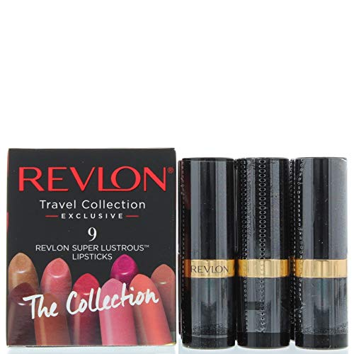 - Revlon Super Lustrous Lipsticks 9 piece Cube Travel Collection