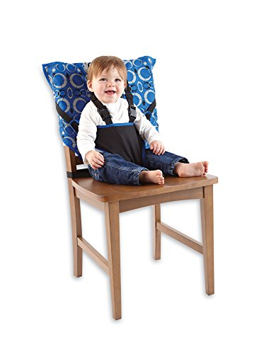 Cozy Cover Easy Seat – Portable Travel High Chair and Safety Seat for Infants and Toddlers (Blue)