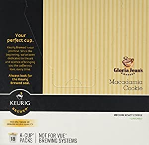 Gloria Jean's Macadamia Cookie Flavored Coffee - 18 K-cups for Keurig Brewer