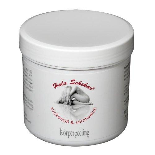 Gegen eingewachsene Haare vor der Haarentfernung, Enthaarung: Hala Schekar Körperpeeling - Cremetiegel 450ml
