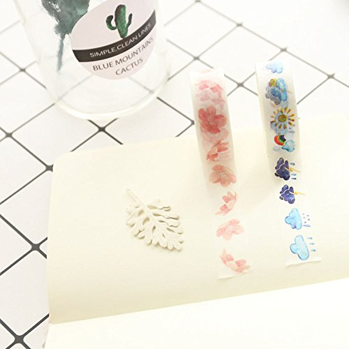 Washi Tape Skinny Colored Masking Tape with Cute Pattern Labelling Tape Graphic Art Tape Roll for Fun Great for DIY Decor Scrapbooking Sticker Masking Paper Decoration Tape Adhesive (Forest) by paway (Image #4)