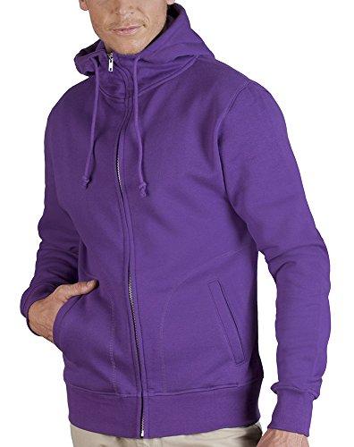 Zip Hoodie - Doppelkapuze Herren, XL, Violett