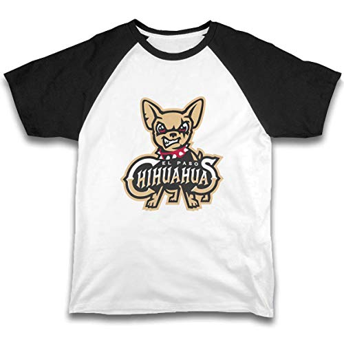 Kid T Shirt El Paso Chihuahuas 3D Tee Baseball Short Sleeve Cotton Shirts Top for Boys Girls Kids Black
