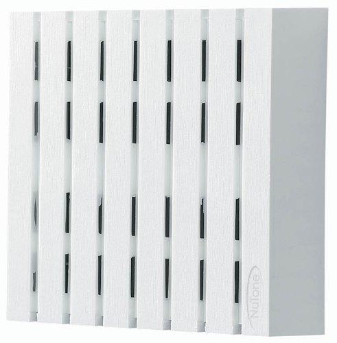 [해외]NuTone LA18WH 장식 유선 유선 2 노트 도어 차임 수직 패널 화이트 / NuTone LA18WH Decorative Wired Two-Note Door Chime with Vertical Panels White