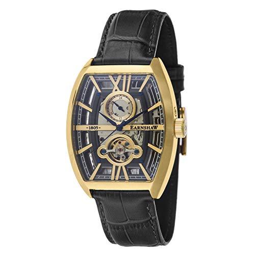 Thomas Earnshaw Men's Holborn Skeleton Automatic ES-8111-02 Brown Leather Hand Wind Fashion Watch