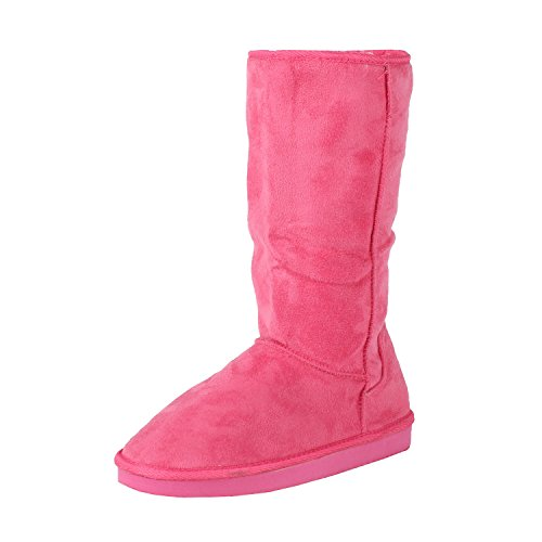 West Blvd Chicagov2.0 Winter Boot Boots, Fuchsia Suede, (Pink Boots)