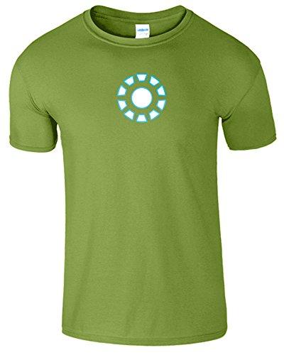 """SNS Online Kiwi - S - Brustumfang : 34"""" - 36"""" - Iron Man Arc Reactor Frauen Der Männer Damen Unisex T Shirt"""