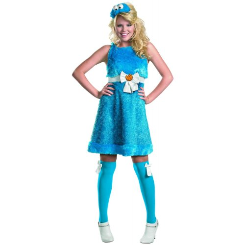 COOKIE MONSTER SASSY 4-6 (Sassy Cookie Monster Adult Costume)