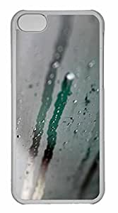 iPhone 5C Case, Personalized Custom Water Condensation On Glass for iPhone 5C PC Clear Case