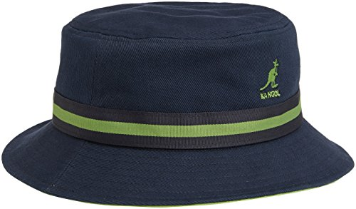 Kangol Lightweight Hat - Kangol Men's Stripe Lahinch, Navy, Large