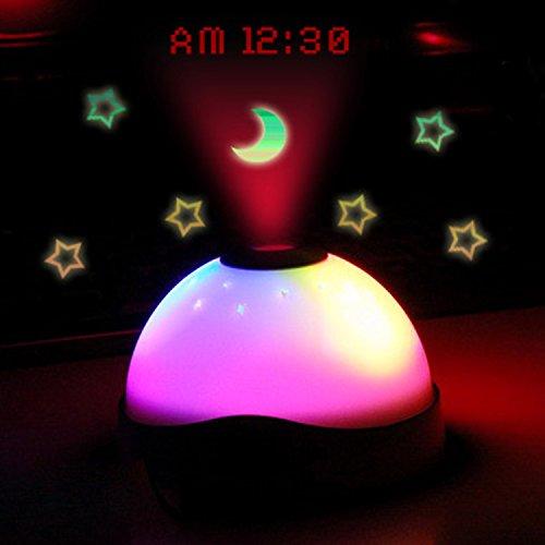 Noche Iluminación Lámpara Luz Romántica giratoria Cosmos estrella cielo Luna Proyector, la...