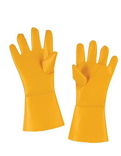 Fun World Unisex Gloves Yellow Hazmat Adult Halloween Costume Accessory, -