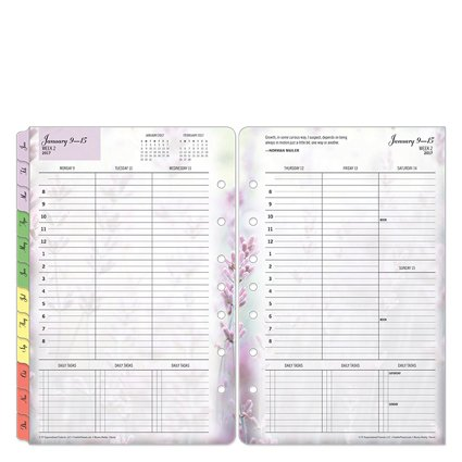 Classic Blooms Weekly Ring-bound Planner - Jan 2017 - Dec 2017