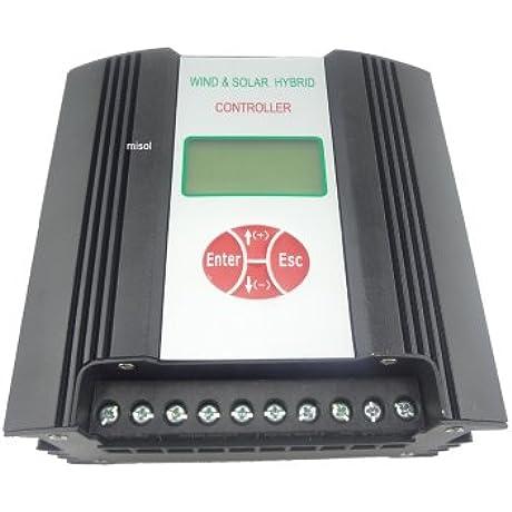 MISOL Hybrid Solar Wind Charge Controller 600W 24VDC Wind Charge Controller Wind Regulator Solar Regulator