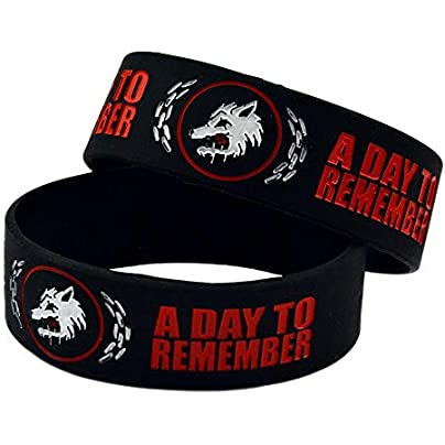 Sxuefang Silicone Bracelets With Sayings Day Remember Rubber Wristbands For Kids Motivation Set Pieces Estimated Price £29.99 -