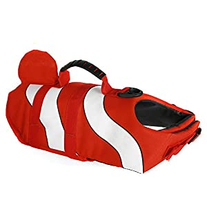 Professional Dog Swimming Clothes Pet Dog Life Jacket Small Medium and Large Dog Buoyancy Swimsuit Dog Swimsuit Rescue… Click on image for further info.