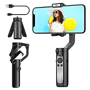 3-Axis Gimbal Stabilizer for Smartphone - 0.5lbs Lightweight Foldable Phone Gimbal for iPhone 11 Pro Max X XS, Auto Inception Dolly Zoom, Pocket Gimbal for Video Vlog Youtuber Hohem iSteady X (Black) 97