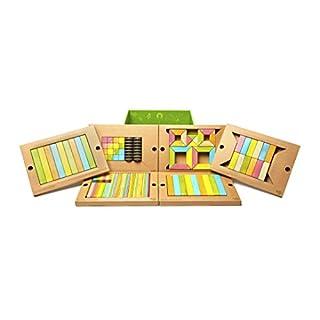 130 Piece Tegu Classroom Magnetic Wooden Block Set, Tints