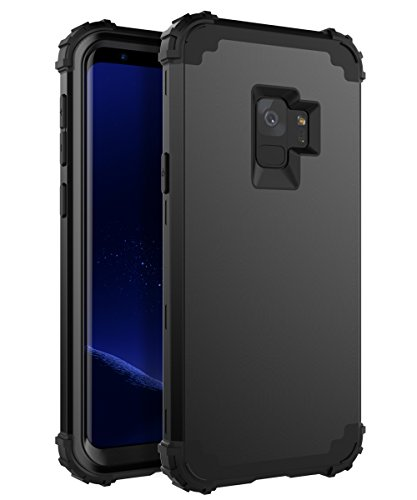 XIQI Samsung Galaxy S9 Case Three Layer Hybrid Heavy Duty Shockproof Impact Defender Bumper Anti-Scratch Protective Case Cover for Galaxy S9 (2018)