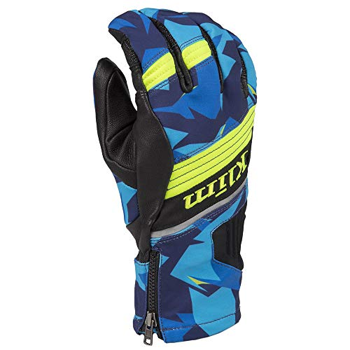 Klim Powerxross Men's Ski Snowmobile Gloves - Camo/Blue / X-Large