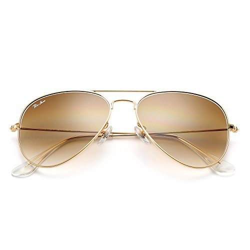 Pro Acme Aviator Large Metal Sunglasses 100% Real Glass Lens, 62mm - Metal Logo Aviator Sunglasses