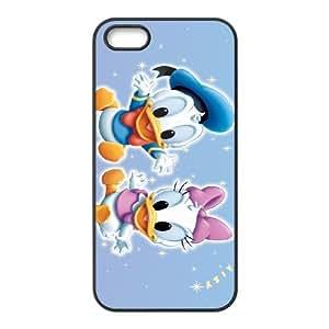 Donald Duck 002 iPhone 5 5s Cell Phone Case Black TPU Phone Case RV_571227