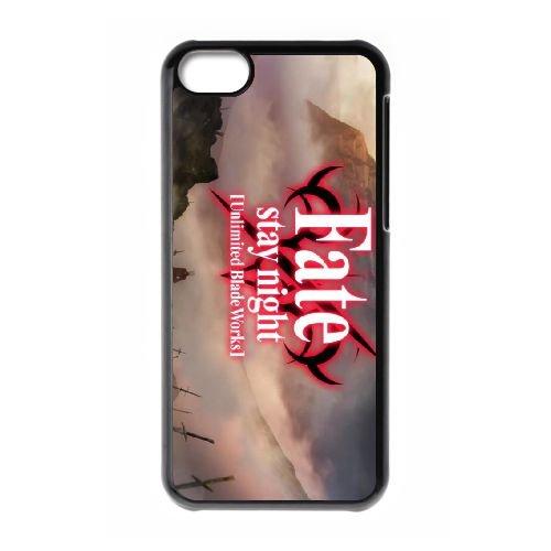 Fate Stay Night 001 coque iPhone 5C Housse téléphone Noir de couverture de cas coque EOKXLLNCD13274
