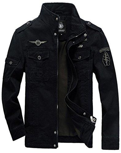 Negro Blusa hombre Chaqueta para YYZYY faZxnXH