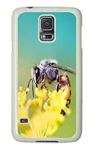 water proof Samsung Galaxy S5 cases Honey Bee Closeup Animal PC White Custom Samsung Galaxy S5 Case Cover