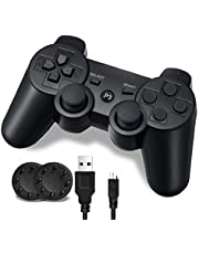 PS-3 Controller, Wireless PS-3 Controller Double Vibration Game Remote Control Joystick Joypad for PS-3 with Charger Cable (Made by 3rd Party)