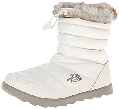 The North Face Women's ThermoBall Winter Snow Boots, White, Size 5.0