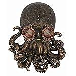 Steampunk Octopus Wall Plaque Sculpture,Bronze 5