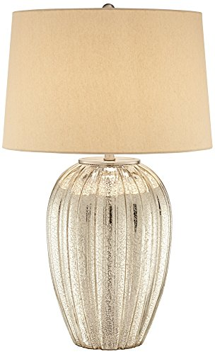 Fluted Glass One Light - Possini Euro Naxos Fluted Glass Table Lamp