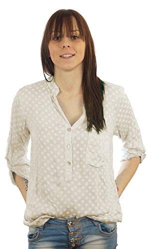 Styled Italy - Camisas - Lunares - mao - manga 3/4 - para mujer gris claro