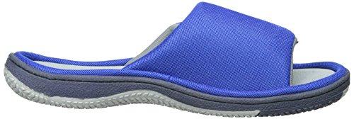Isotoner Mens Mesh Sandalo Scorrevole Con Cinturino Blu Scuro