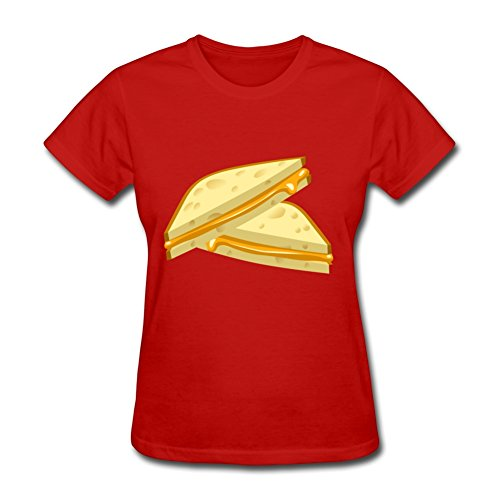 Red Food Grilled Cheese Styling Design Xxx-large Cotton Women Short Sleeves