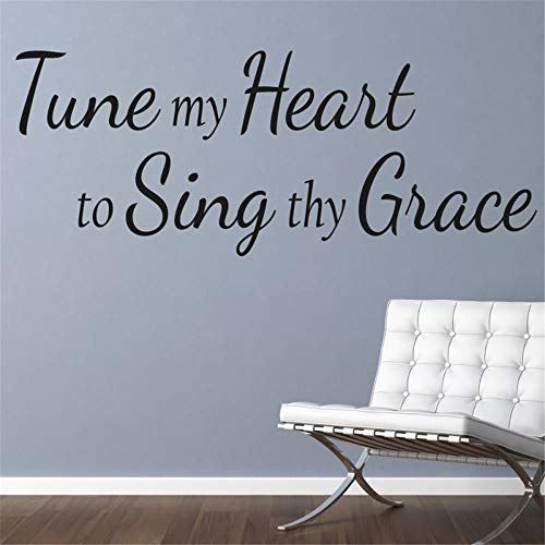 Wall Stickers Decal Removable Vinyl Decal Quote Art Tune My Heart to Sing Thy ()