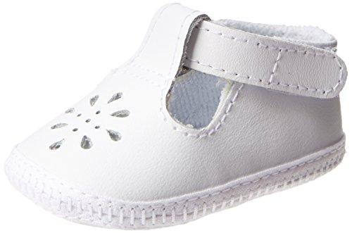 Baby Deer Baby Crib Shoe 1820-K, White, 2(3-6mos) - Leather White Deer Baby
