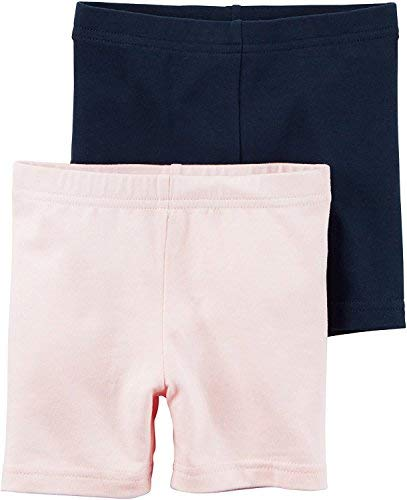 Carters Little Girls 2-Pack Bike Shorts (5T, Pink/Navy)