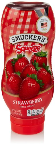 Smucker's Squeeze Strawberry Fruit Spread, 20 Oz