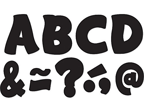 """Teacher Created Resources Funtastic Font 3"""" Magnetic Letters, Black (77214.0)"""