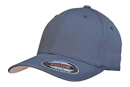 (Flexfit Premium Original Blank Cotton Twill Fitted Hat Dark Navy)