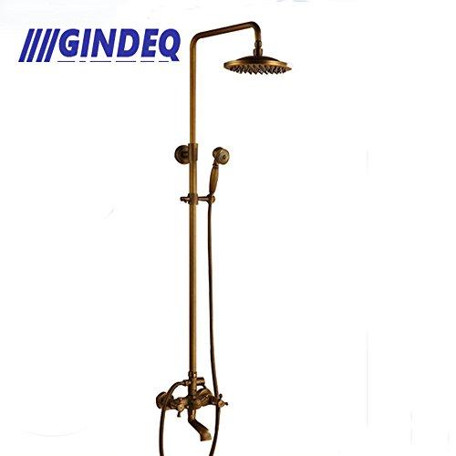 Tub Set Complete Antique Brass (GINDEQ Bath Shower Faucet Set Complete 8